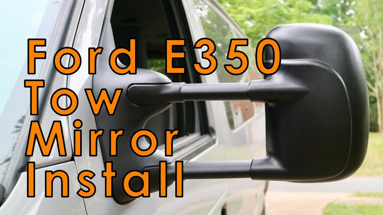 Ford E350 Van Tow Mirrors Side View Mirror Replacement 1a Auto