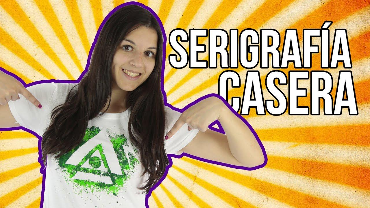 Cómo estampar camisetas en casa - Serigrafía casera (Experimentos ...