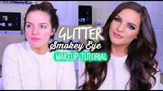 glitter smokey eye makeup tutorial   casey holmes