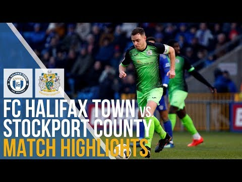 Halifax Stockport Goals And Highlights