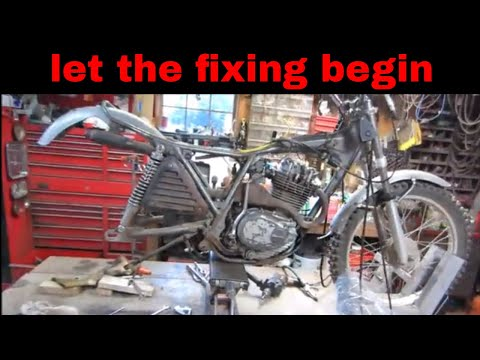 engine work on the old honda 250 trials bike,