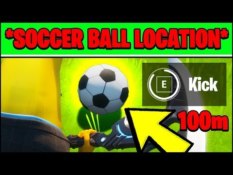 KICK A SOCCER BALL 100 METERS LOCATION (Fortnite Season 2 Challenges & LOCATIONS)