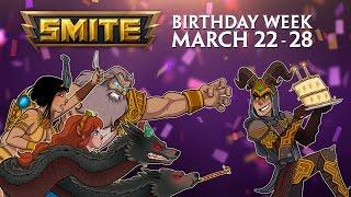 SMITE Birthday Week! (March 22 - 28, 2016)