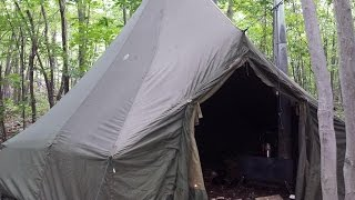 SOLO BACKPACKING WITH WOODSTOVE AND CANVAS TENT