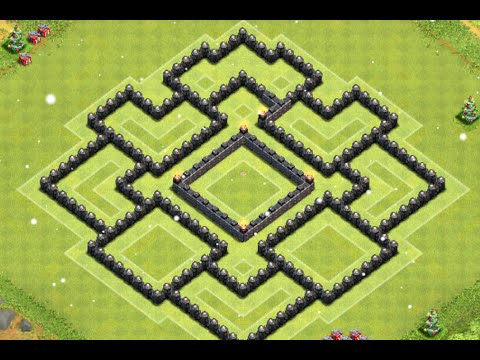 Clash of clans epic th8 farming base layout speed build youtube