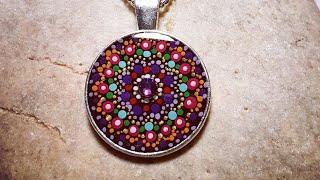 Painted bezel pendants