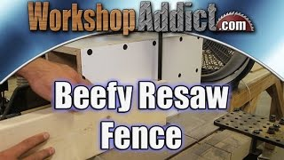 Resawing is an operation where you split your material in two pieces. It is typically cut right down the middle but not always, you can