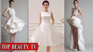 Short white wedding dresses , short bridal dresses  for women