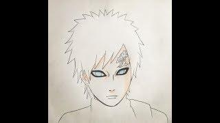 How to draw Gaara (Naruto)