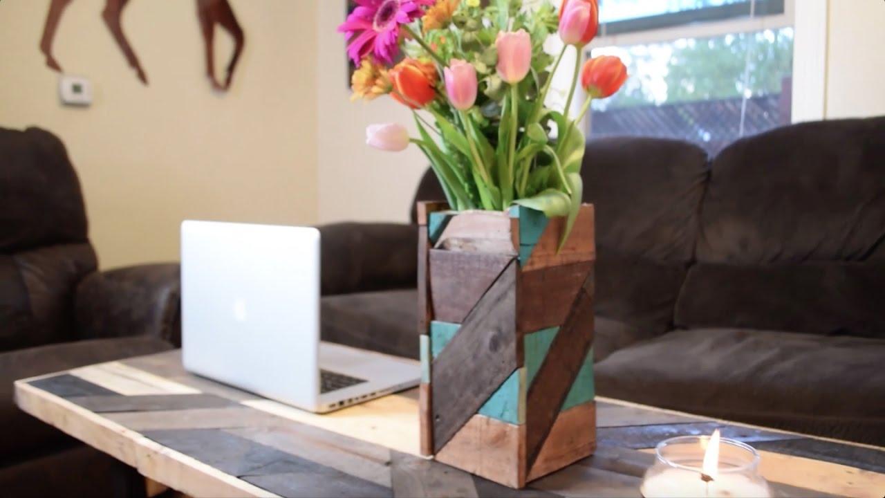 Pallet wood flower vase tutorial youtube pallet wood flower vase tutorial floridaeventfo Images