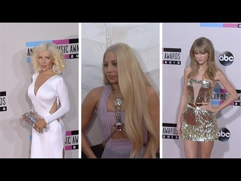 Lady Gaga, Miley Cyrus, Christina Aguilera, Taylor Swift, One Direction 2013 AMAs Red Carpet