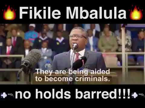 Police minister Fikile Mbalula tell TRT to crush criminals bal1s & make criminals drink their urine