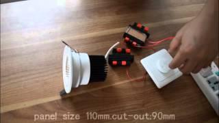 230V 12W AC COB  driverless LED downlight