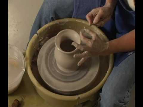 Danielle ~ The Clay Lady - Throwing a Pot on the Potter's Wheel Pt. 2