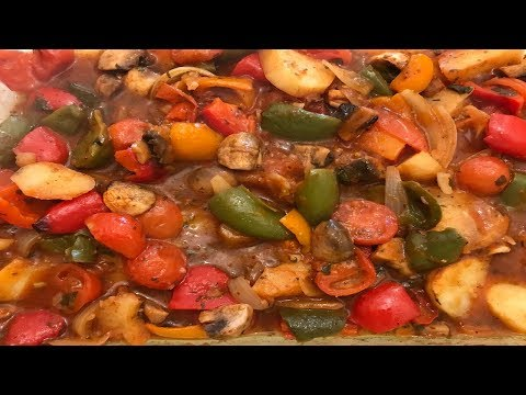 Spicy vegetables casserole