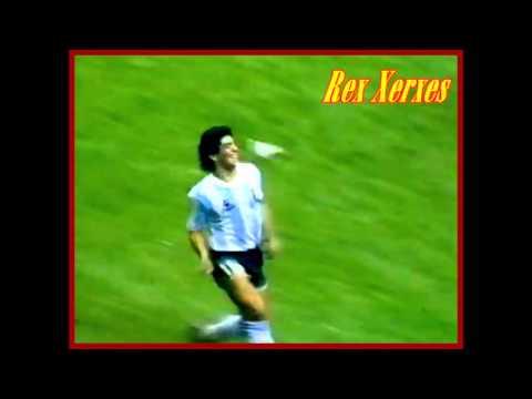 Argentina Vs Belgium 1986 Cup Maradona's 2th Goal HD