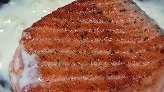 완벽한 연어 스테이크 (how to make a perfect salmon steak)