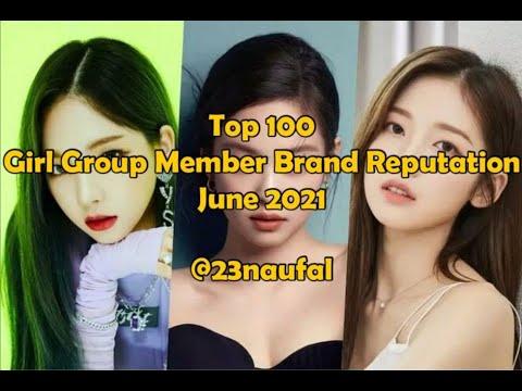 Top 100 Girl Group Member Brand Reputation June 2021 rekorea @23naufal