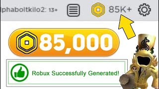 THIS TOP SECRET ROBUX GENERATOR GIVES YOU ROBUX WITHOUT DOING ANYTHING!?