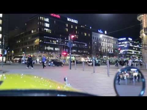 Traffic in center of Helsinki