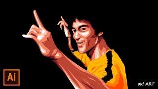 [Synchronized Drawing] Bruce Lee / ブルース・リー | Illustrator