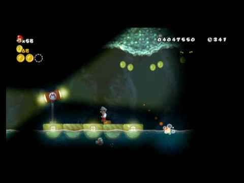 New Super Mario Bros Wii Star Coin Location Guide World 6 6