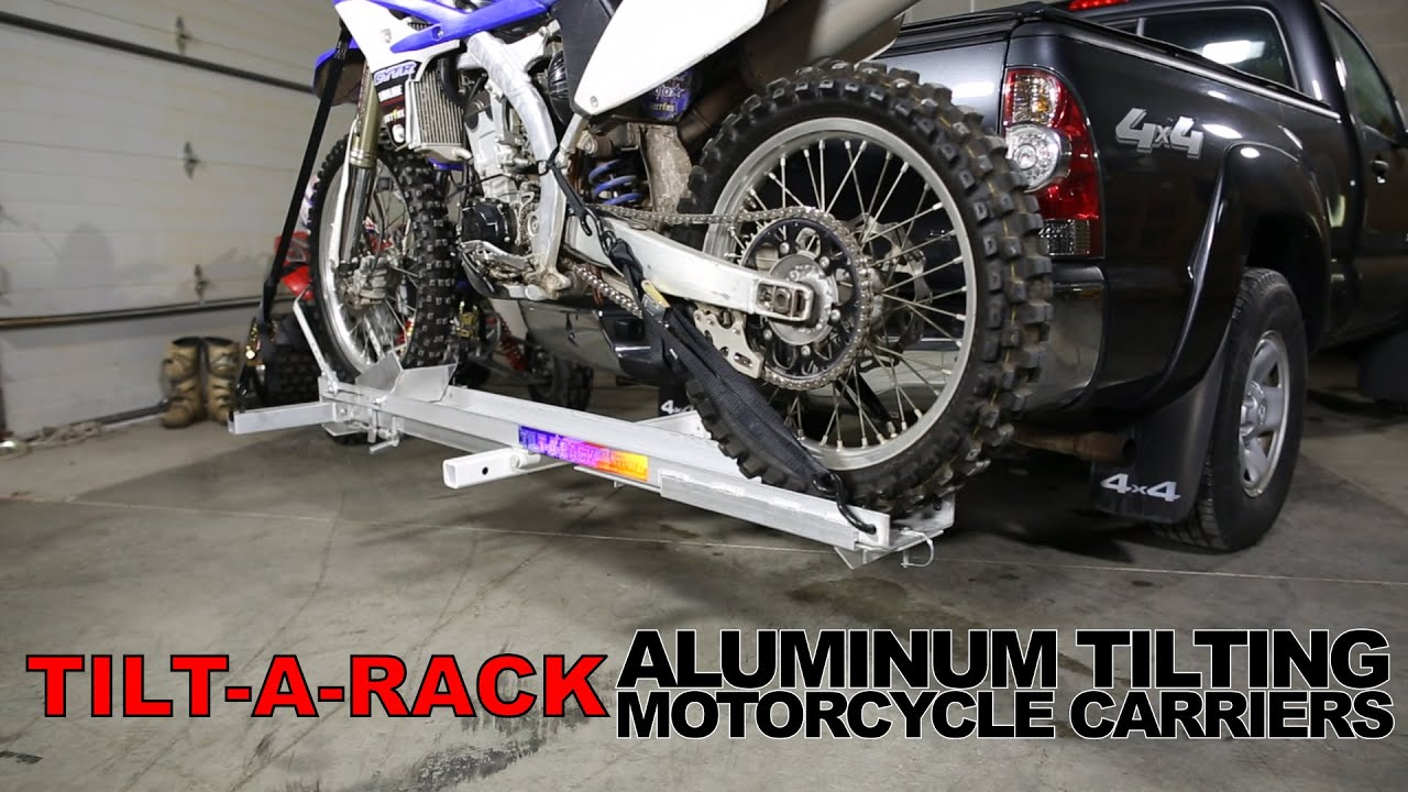 Tilt A Rack Aluminum Tilting Motorcycle Carriers Youtube