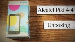 "4"" Zoll Winzling Alcatel Pixi 4 im Unboxing - Deutsch"