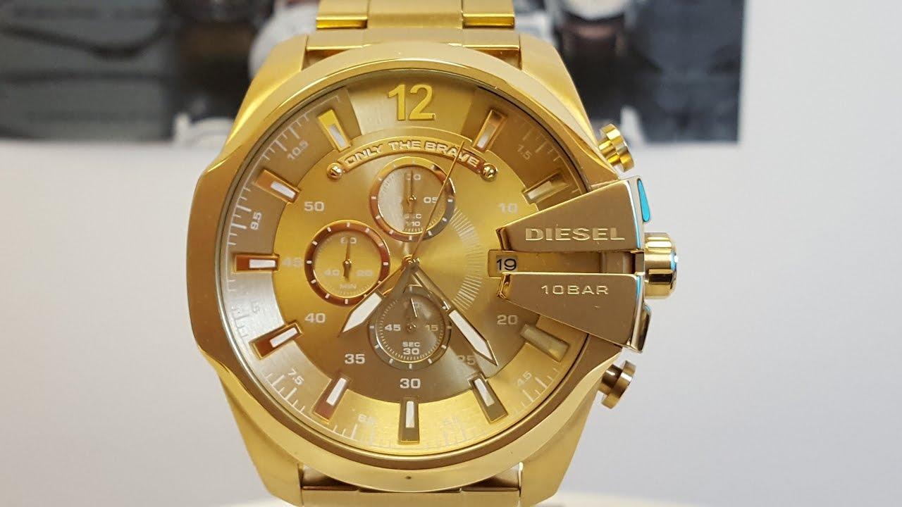 20. Diesel Mega Chief Gold Watch forecast