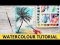 Watercolour PAINTING TUTORIAL   Wet on Wet Techniques