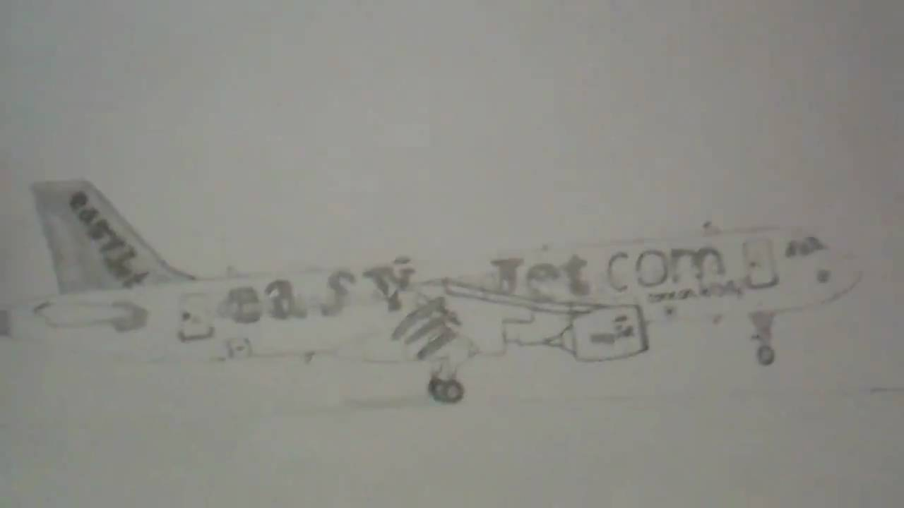 Easy Jet A319 Drawing Youtube