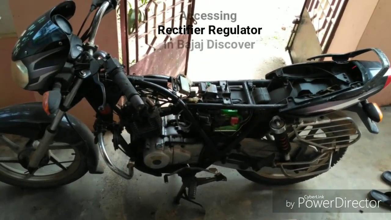 accessing rectifier regulator in bajaj discover [ 1280 x 720 Pixel ]
