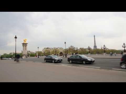 Paris - Pont Alexandre III - true time lapse - 2013