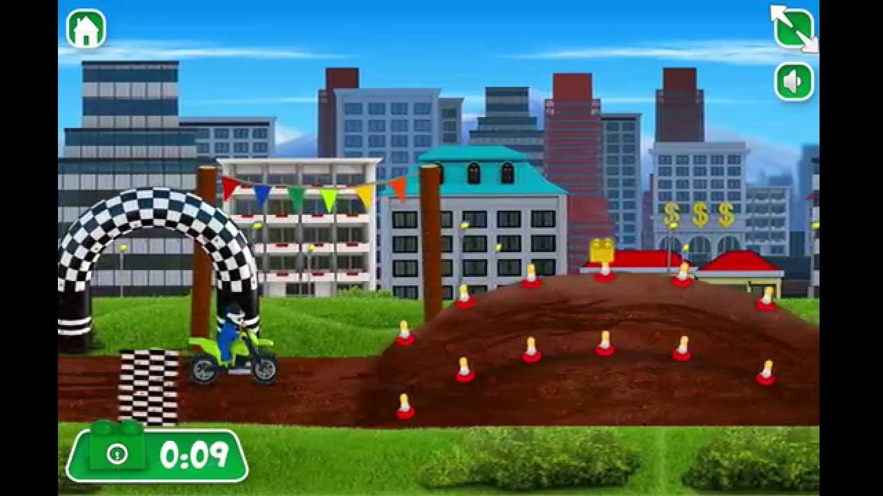 Игры Лего Сити Гонки на мотоциклах - YouTube