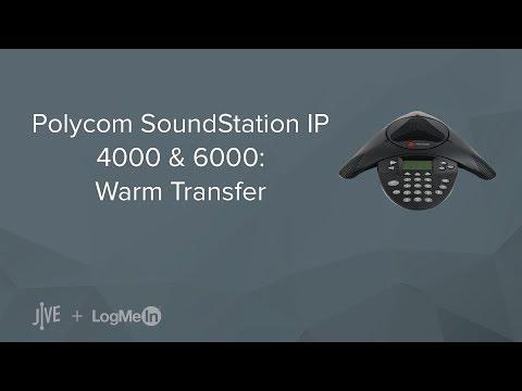Polycom SoundStation IP 4000/6000: Warm Transfer
