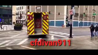 Chicago Fire Department Engine 42 Spare Truck 3 Squad 1 Responding
