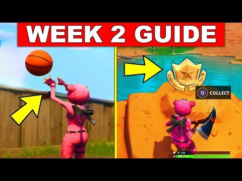 Fortnite WEEK 2 SEASON 5 CHALLENGES GUIDE! – WEEK 2 BATTLE STAR, BASKETBALL HOOP LOCATIONS