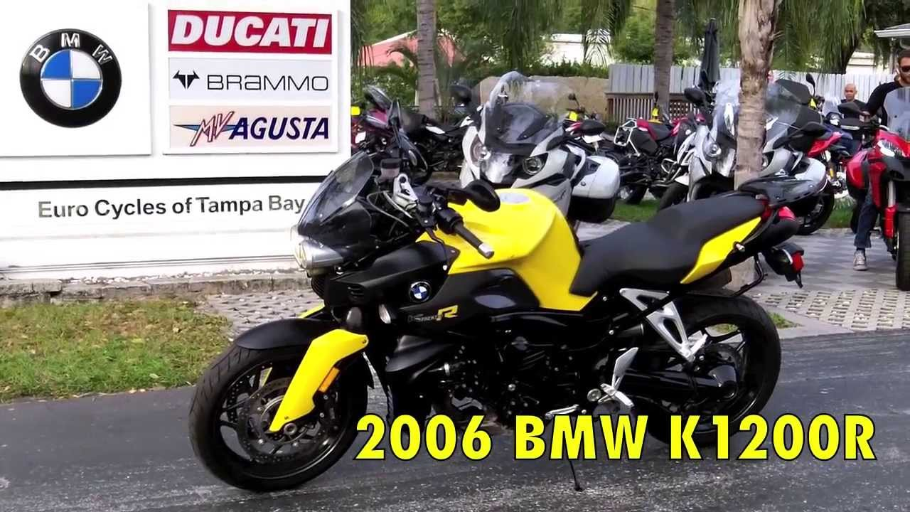 Pre Owned 2006 Bmw K1200r Yellow At Euro Cycles Of Tampa