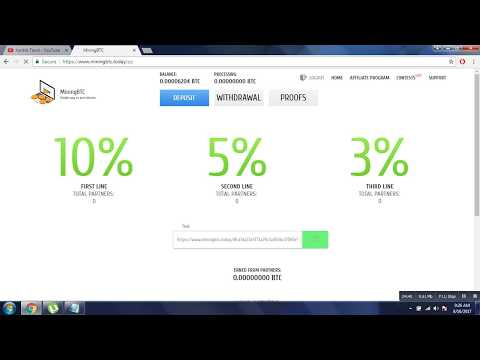Free Mining Bitcoin 2017 Earn Unlimited BTC Per Day 0.9 BTC Day