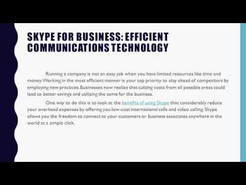 Skype for Business Efficient Communications Technology