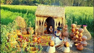 gizzard curry cooking by 4 years baby sneyha in mini kitchen cute cooking show in pottery pot