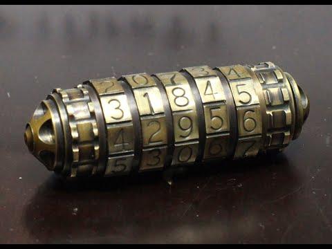 Бронзовая флешка - криптекс стимпанк ручной работы . Handmade Steampunk Cryptex USB
