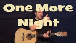 One More Night (Maroon 5) Easy Strum Guitar Lesson Chords How to Play One More Night Tutorial