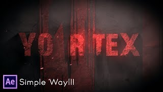 After Effects Tutorial - Text Animation in After Effects - No Third Party Plugin ( Simple Way !!)