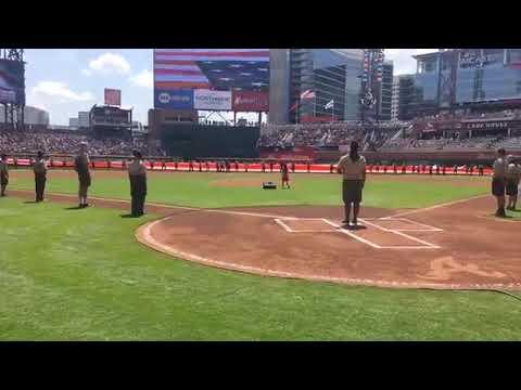US National Anthem by Angelica Hale @AtlantaBraves