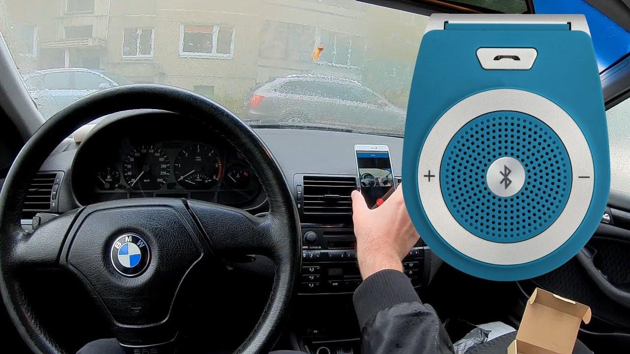 t821 bluetooth hands free car speaker kit bmw e46 retrofit sun visor [ 1280 x 720 Pixel ]