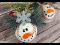 Snowman Baseball Ornament