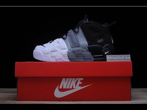 Nike Air More Uptempo 415082 005 White Black Cool Grey