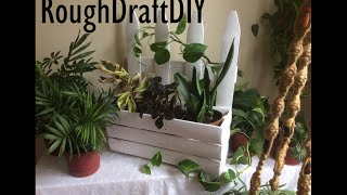 How To Make A Flower Box Planter -- By Roughdraft Diy