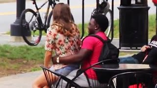Girl Sitting on Guys (Social Experiment)